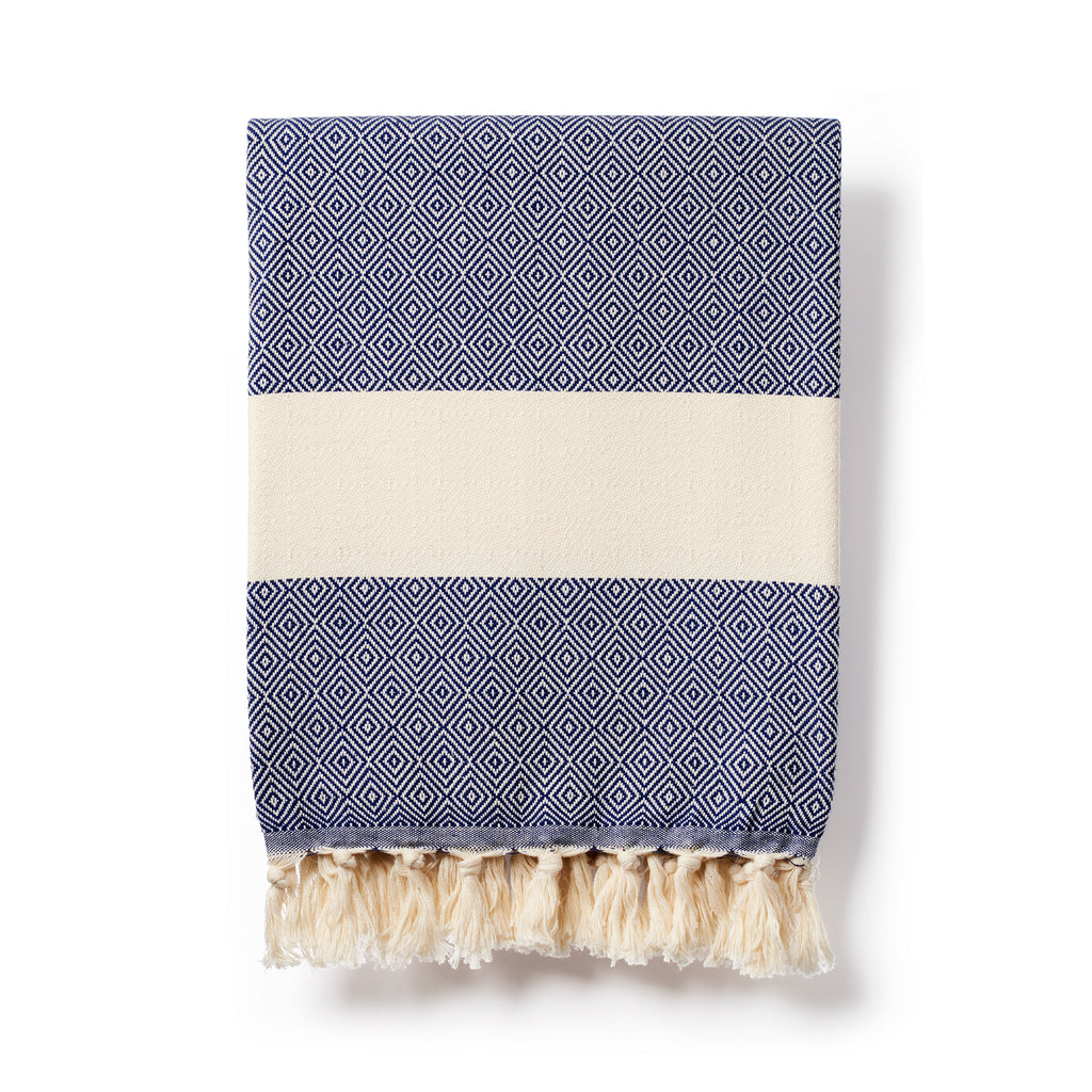 Organic Cotton Hammam Towel - navy