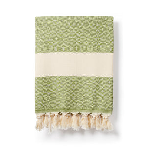 Organic cotton turkish towel olive green