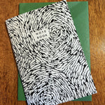 Recycled paper notebook swirl pattern