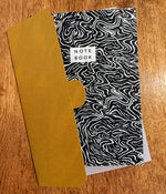 Recycled paper notebook with wave cover