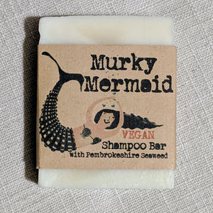 Vegan Shampoo bar - Murky Mermaid.  Handmade in Pembrokeshire.