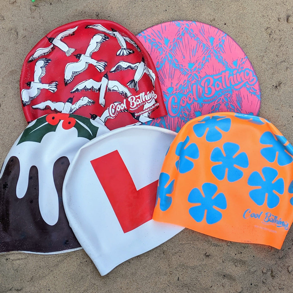 silicone swim hats by cool bathing