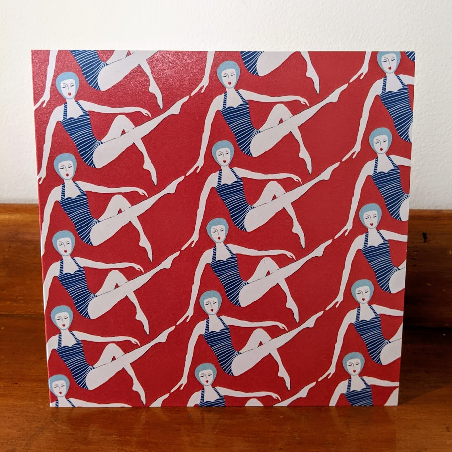 Swimmers greetings card 'Dippers'