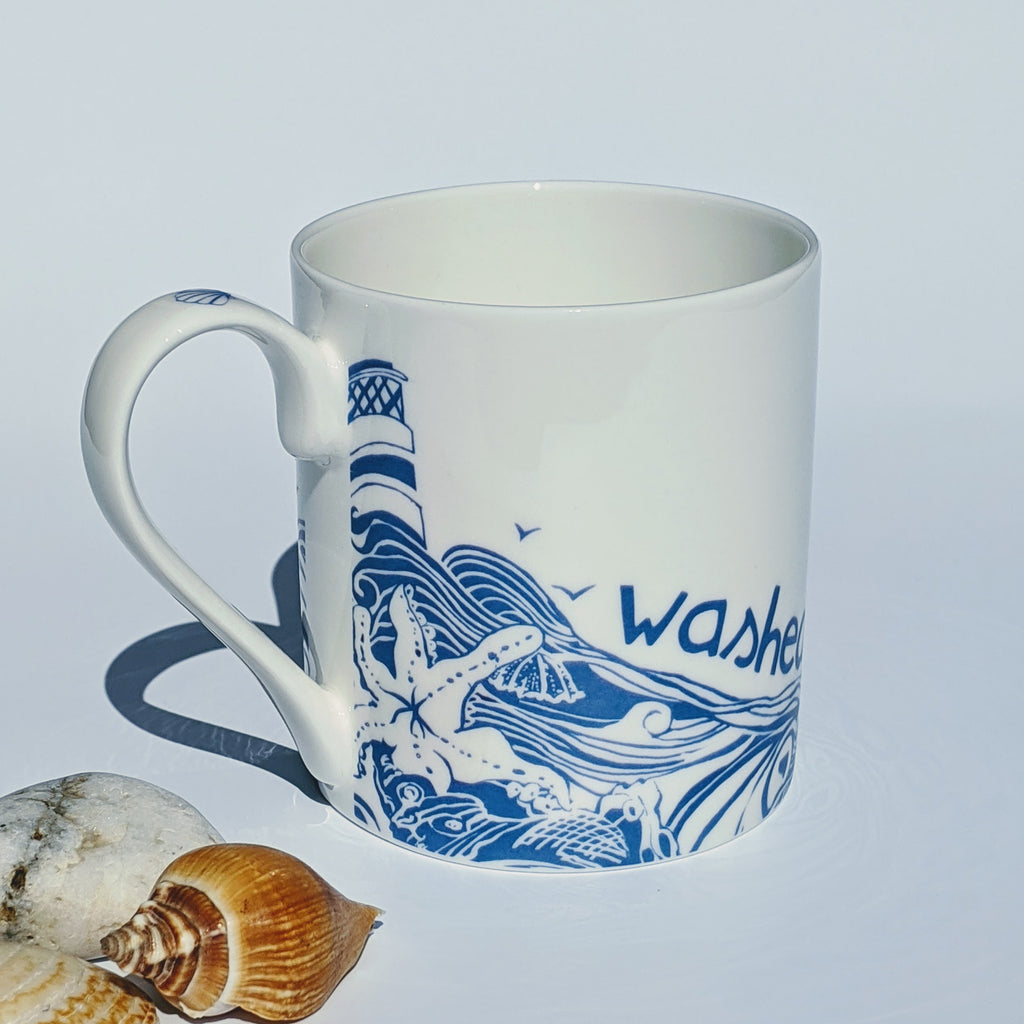 Bone China Mug 'Washed up With the Tide''