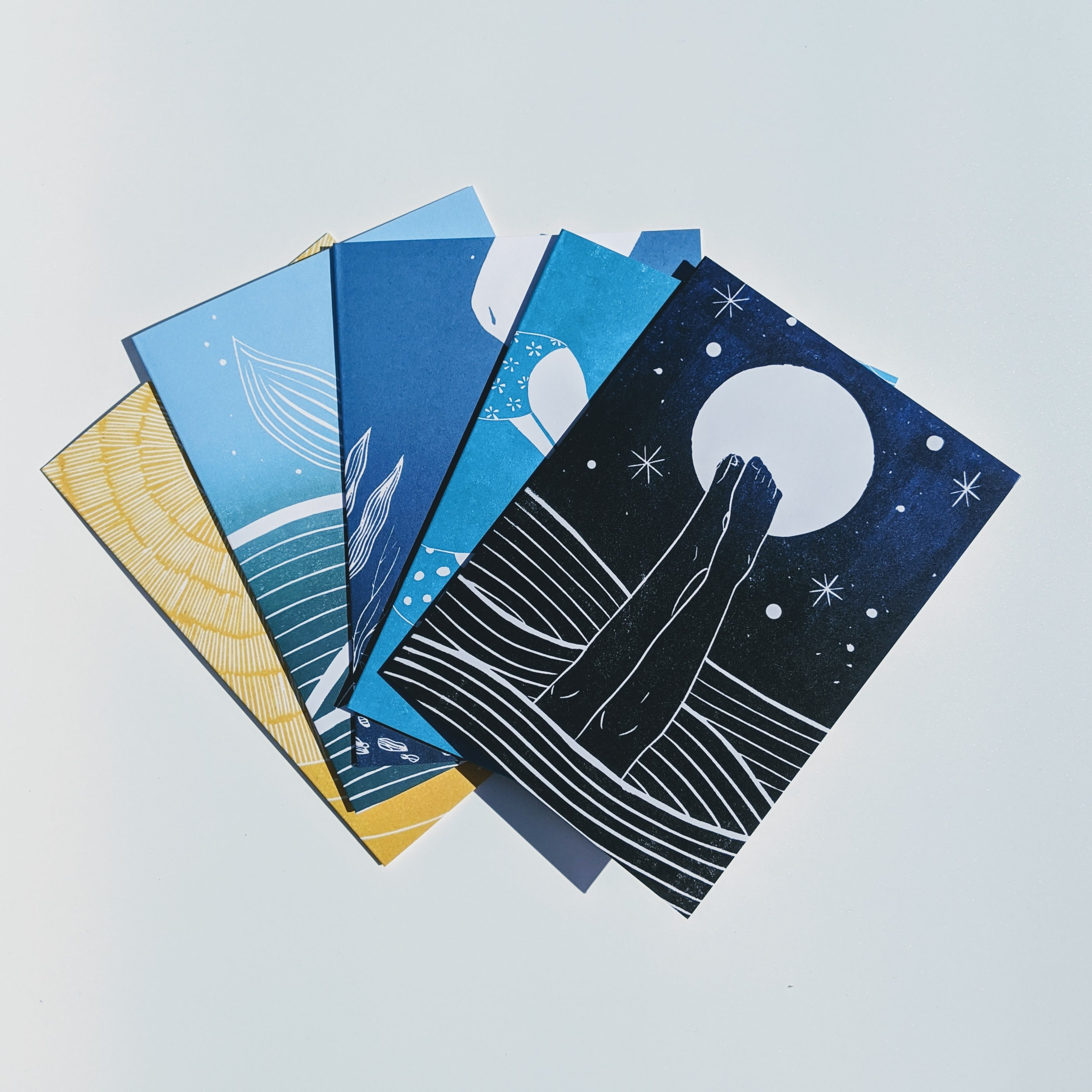 wild swimming greetings cards by Flotsam Prints