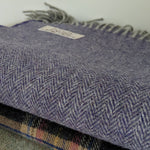 Selection of 100% wool blankets from reclaimed yarn