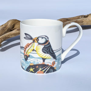 Bone china mug 'Proud as a Puffin'