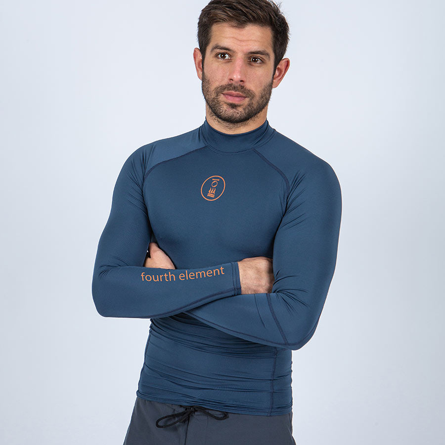 Men's Long Sleeve Rash Vest with Recycled Plastic Bottles