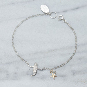 Silver mermaid bracelet