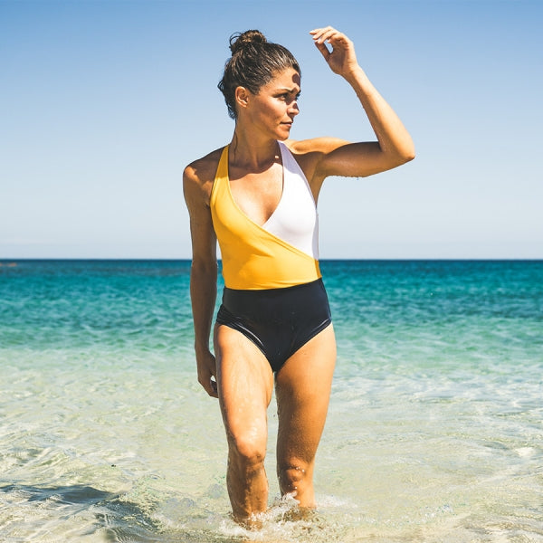 Oceanic Swimsuit with recycled nylon by Fourth Element