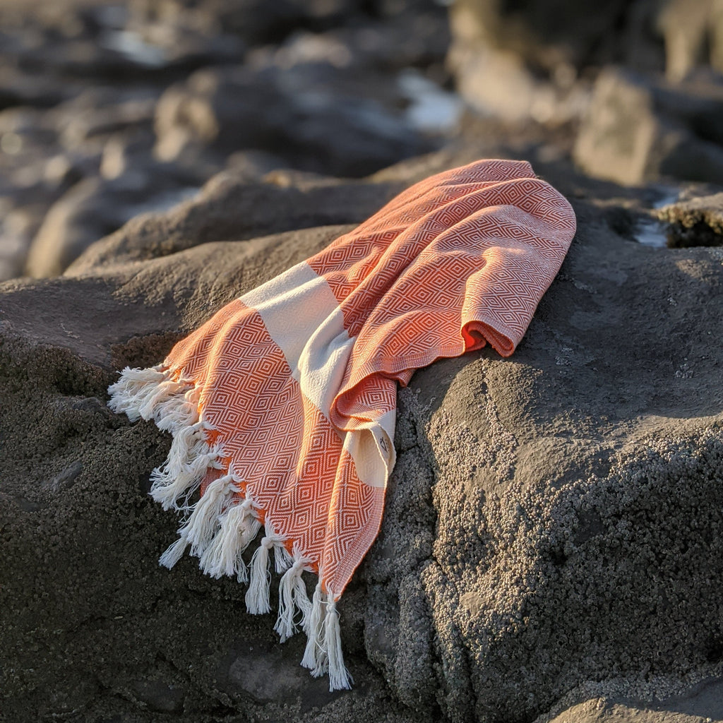 Organic Cotton Hammam Towel - orange