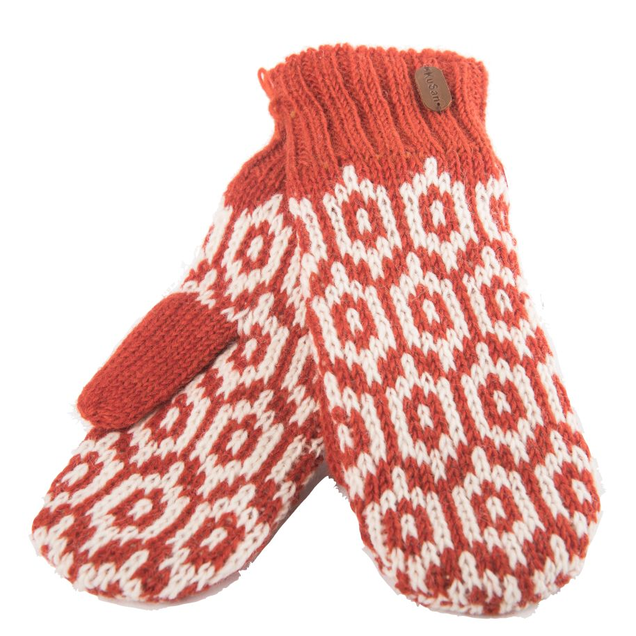 Wool mittens sherpa and fleece lining