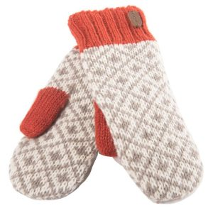 Wool Mittens - orange