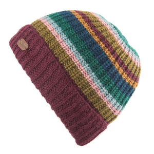 Beanie hat with turned up brim - plumb