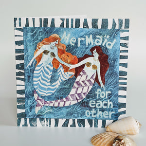 Greetings Card - 'Mermaid for each other'