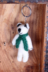 Felted Polar Bear Keyring