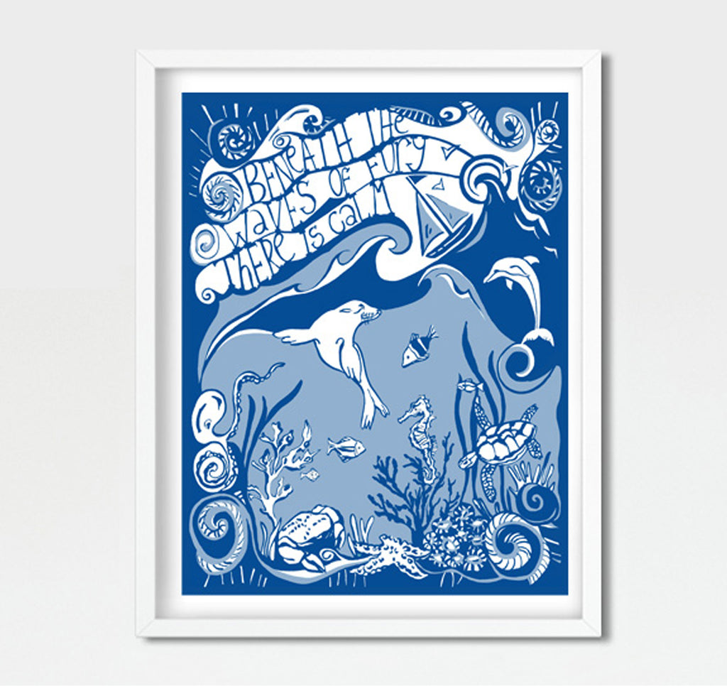 Art Print 'Beneath the Waves'