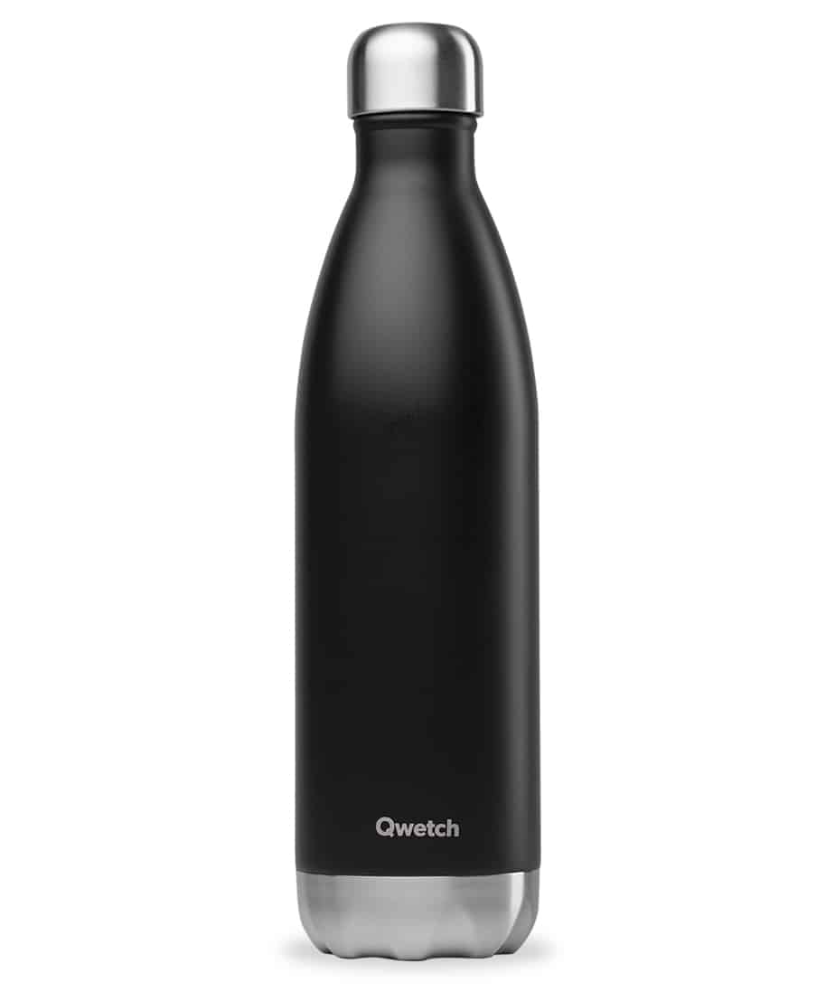 Qwetch black 750ml insulated bottle