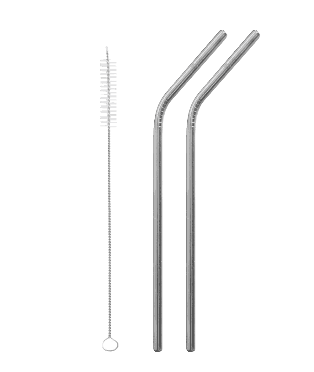Stainless Steel Straws - angled