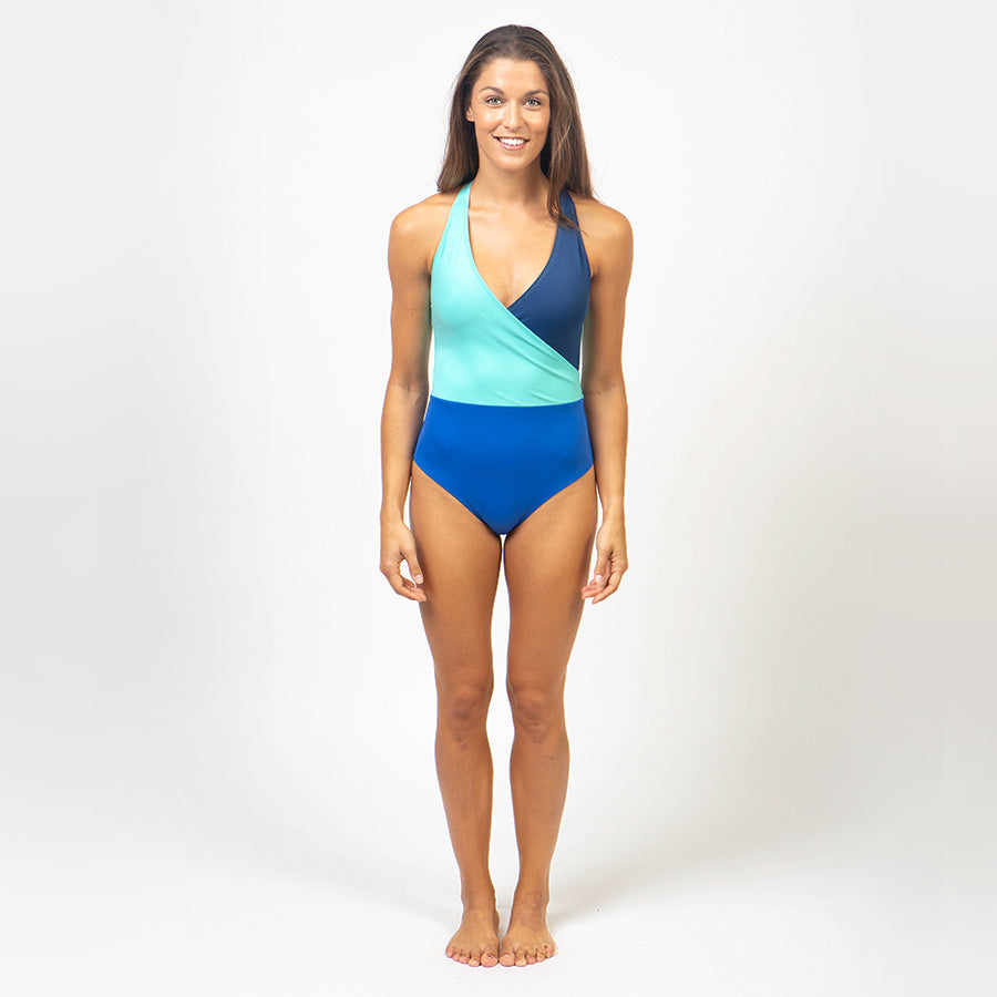 Recycled Nylon Swimsuit - aqua