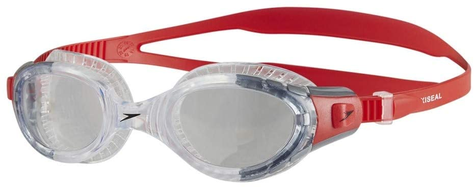 Speedo Futura Biofuse swim goggles - clear/red