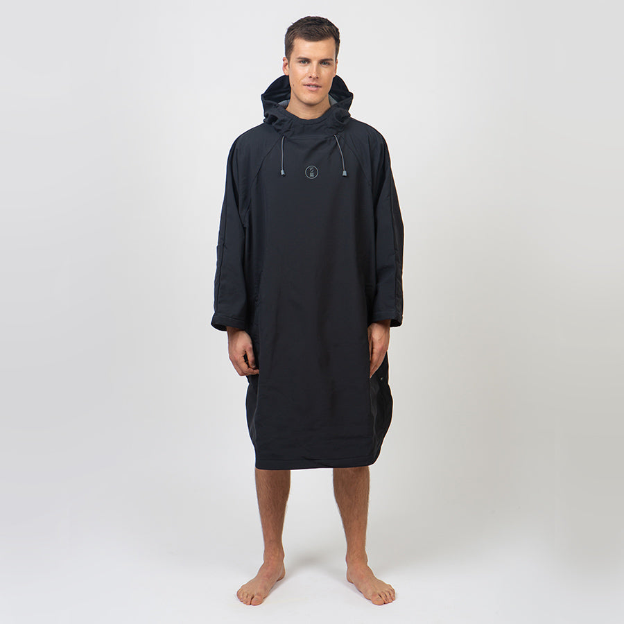 Fourth Element Storm Poncho Changing Robe - Black