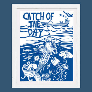 Art Print 'Catch of the Day'