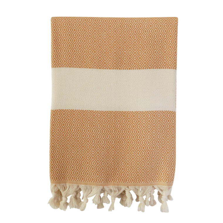 Organic Cotton Hammam Towel - mustard