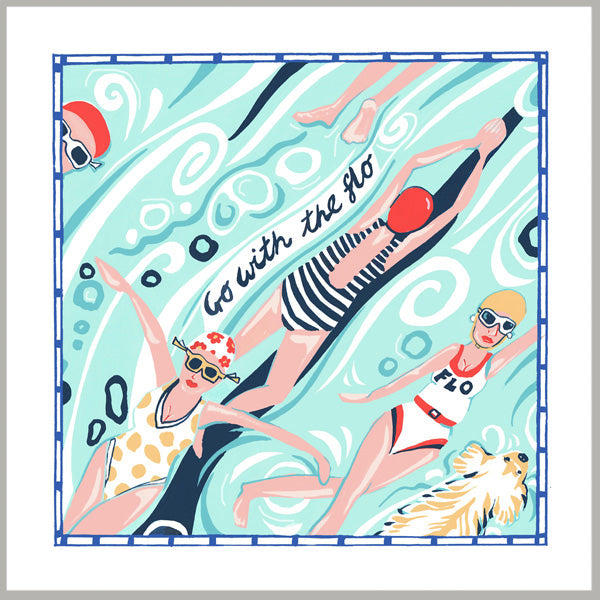 Greetings Card - 'Go with the flo'