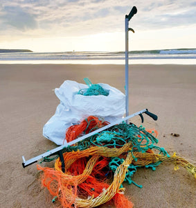 Litter picker made with recycled ocean plastic