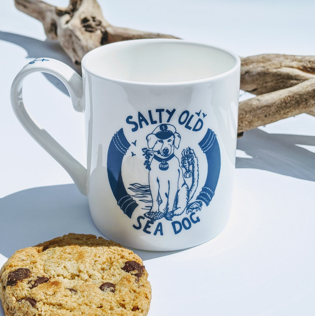 Bone China Mug 'Salty Old Sea Dog'