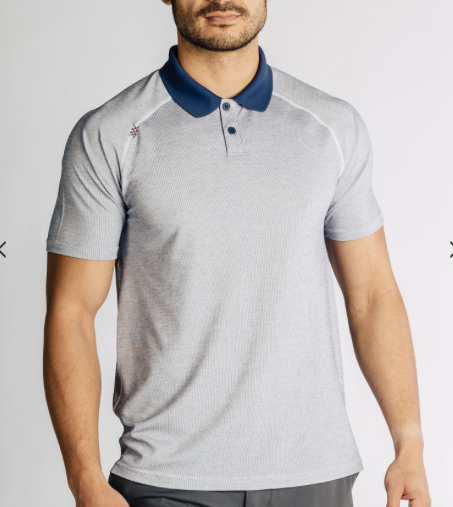 Rhone - Delta Pique Polo White/Patriot Blue