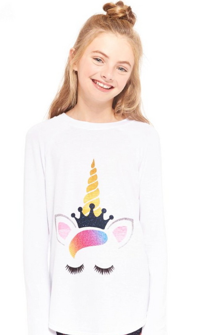 Terez - Girls Queen Unicorn Baseball T-shirt