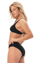 Andie - The Bikini Ribbed Bottom - Black