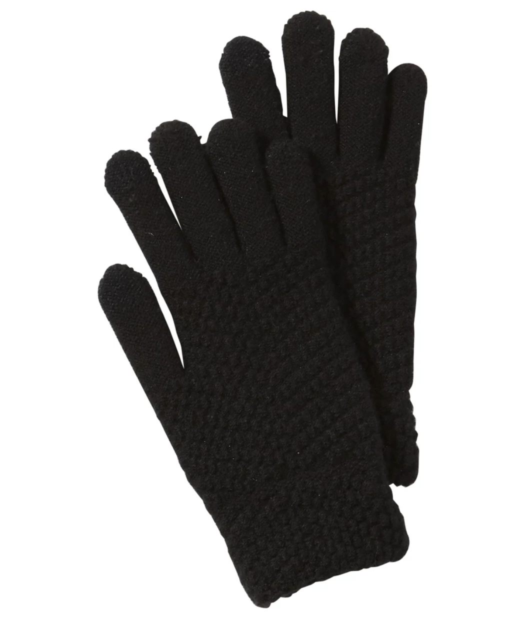 Tickled Pink - Black Anna Texting Knit Gloves