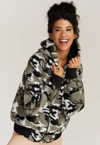 Strut This - Abby Jacket - Camo Sherpa