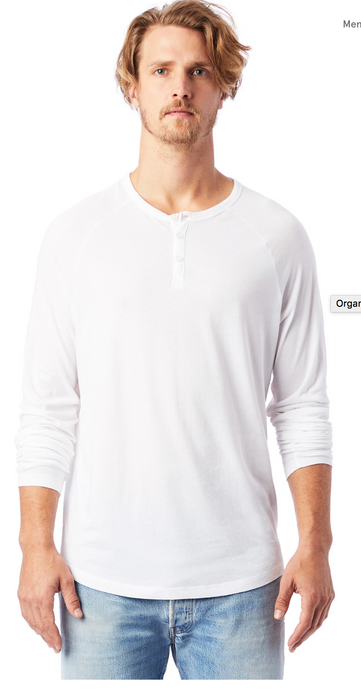 Alternative - Organic Long Sleeve Raglan Henley