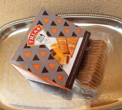 Galletas Trias Triángulo de Chocolate con naranja