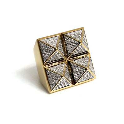 Four Stud Pyramid Ring