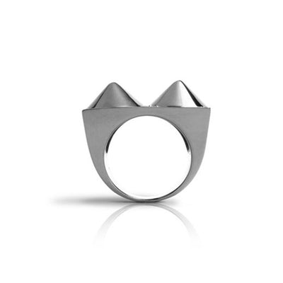 Four Cone Pyramid Ring