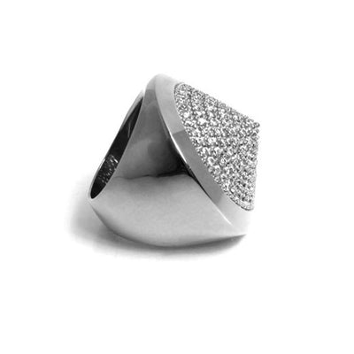 Pave Cone Pyramid Ring