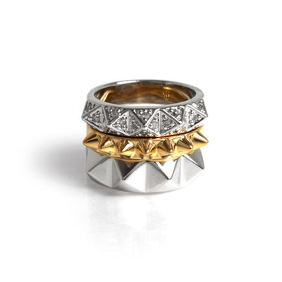 Stack Pyramids Ring Set
