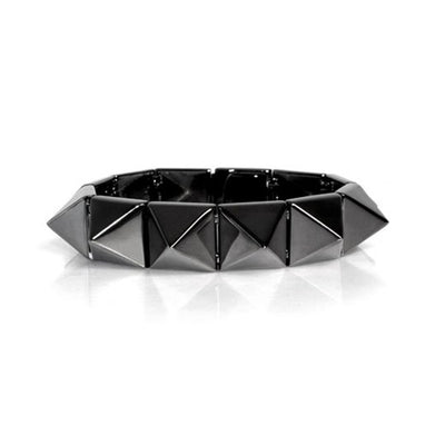 Smooth Pyramid Solid Brass Bracelet