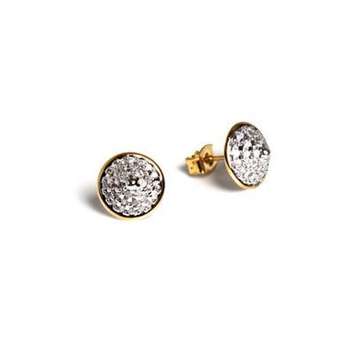 Pave Pyramid Stud Earring