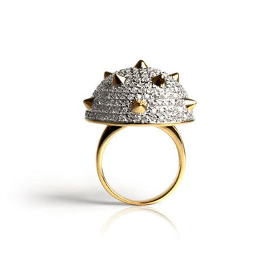 1/2 Spike Pyramid Ring