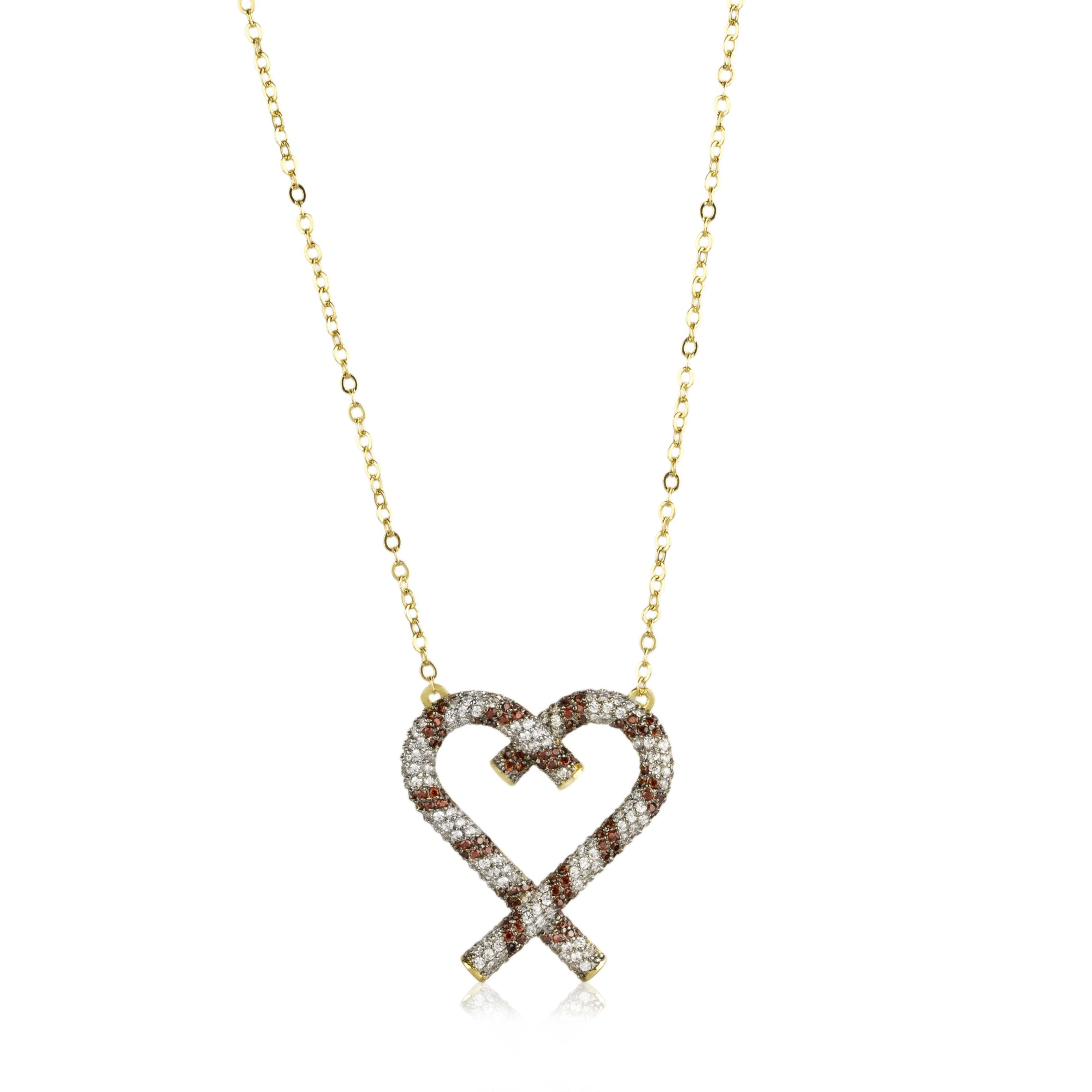 Candycane Heart Necklace