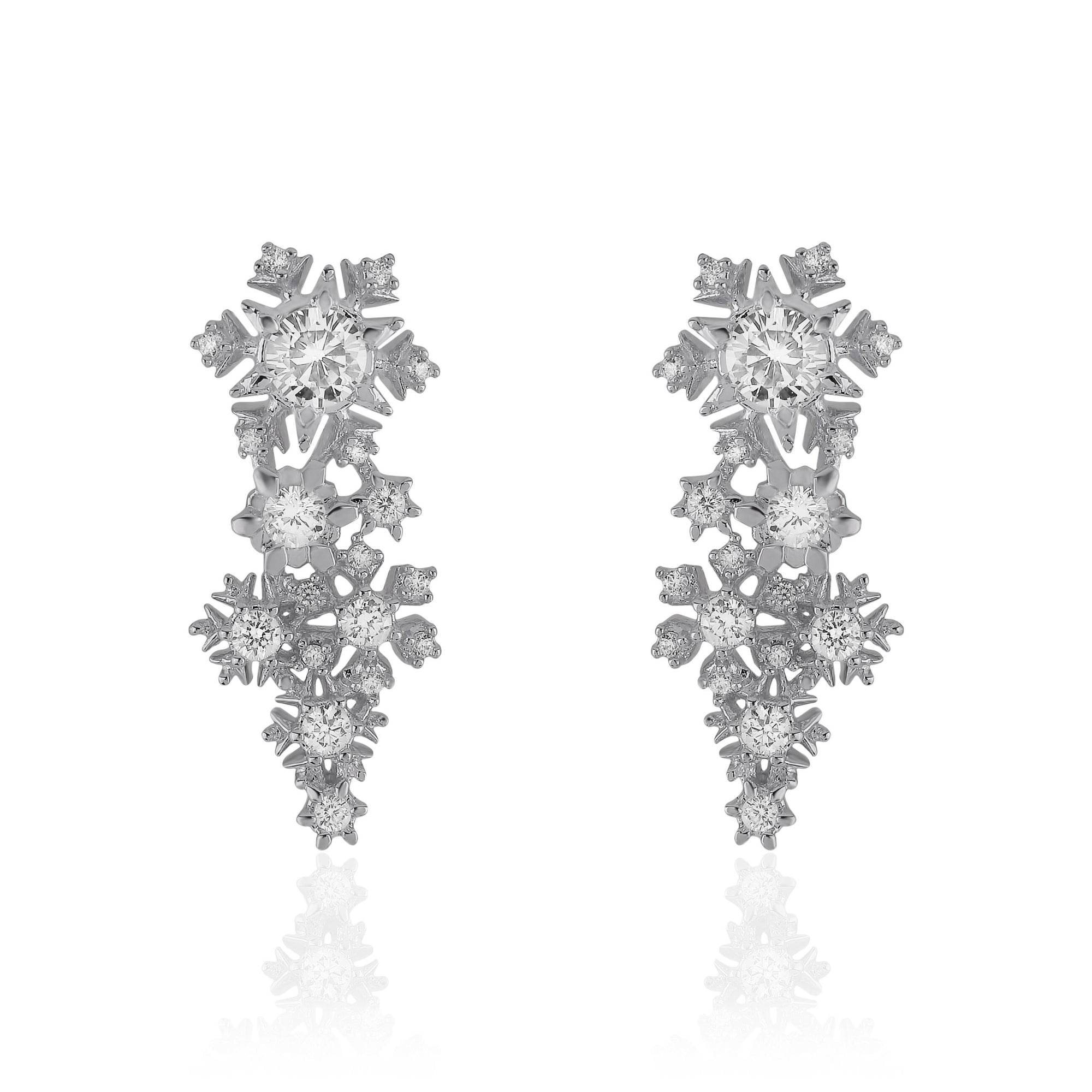 Tiny Snowfall Earrings