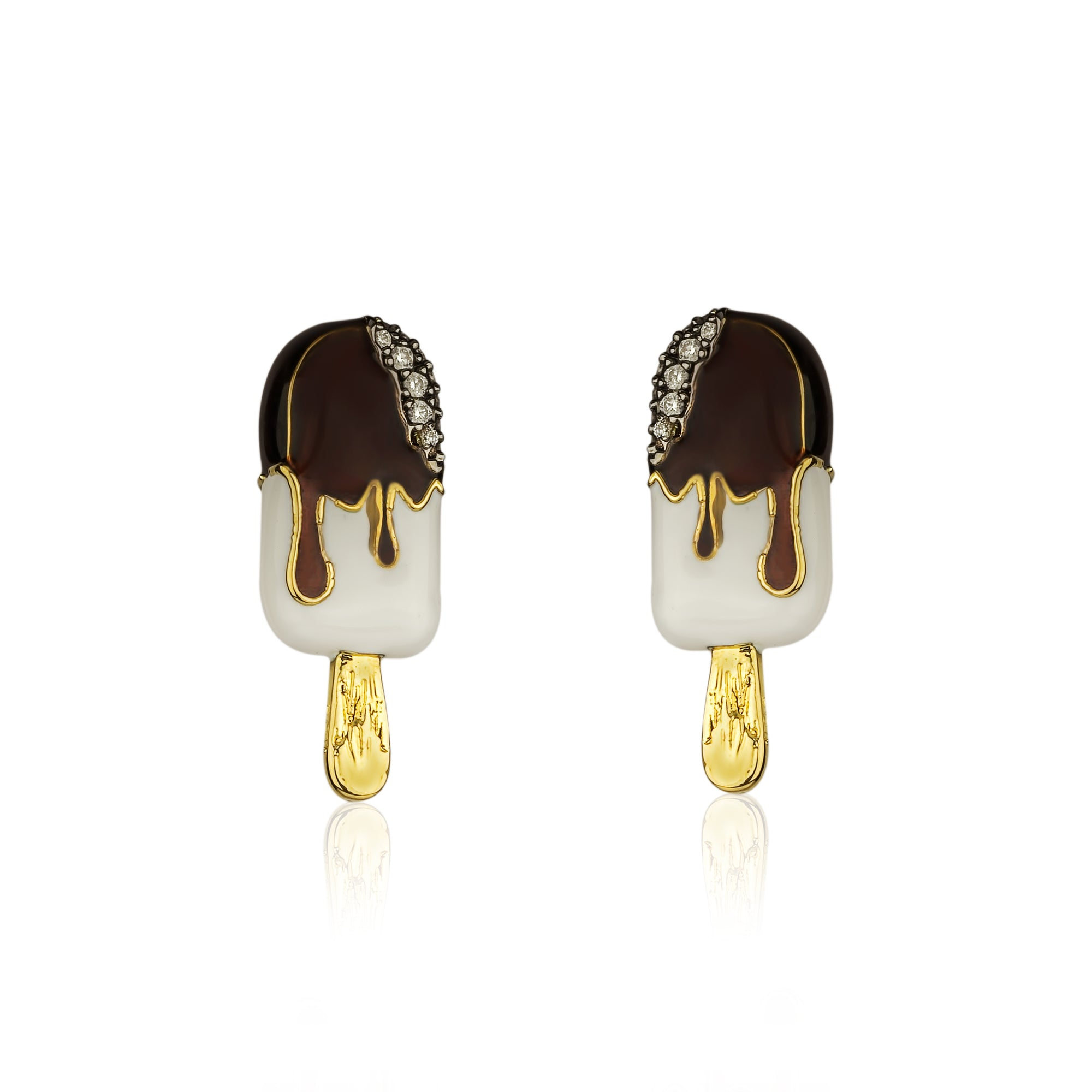 Vanilla Fudge Stud Earring