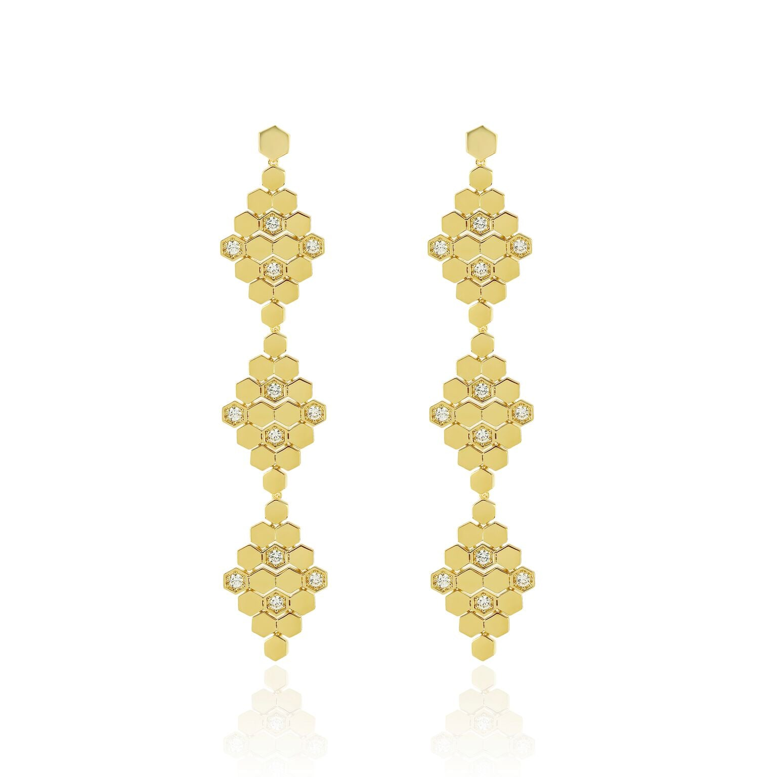 Lattice 3 Tier Earring