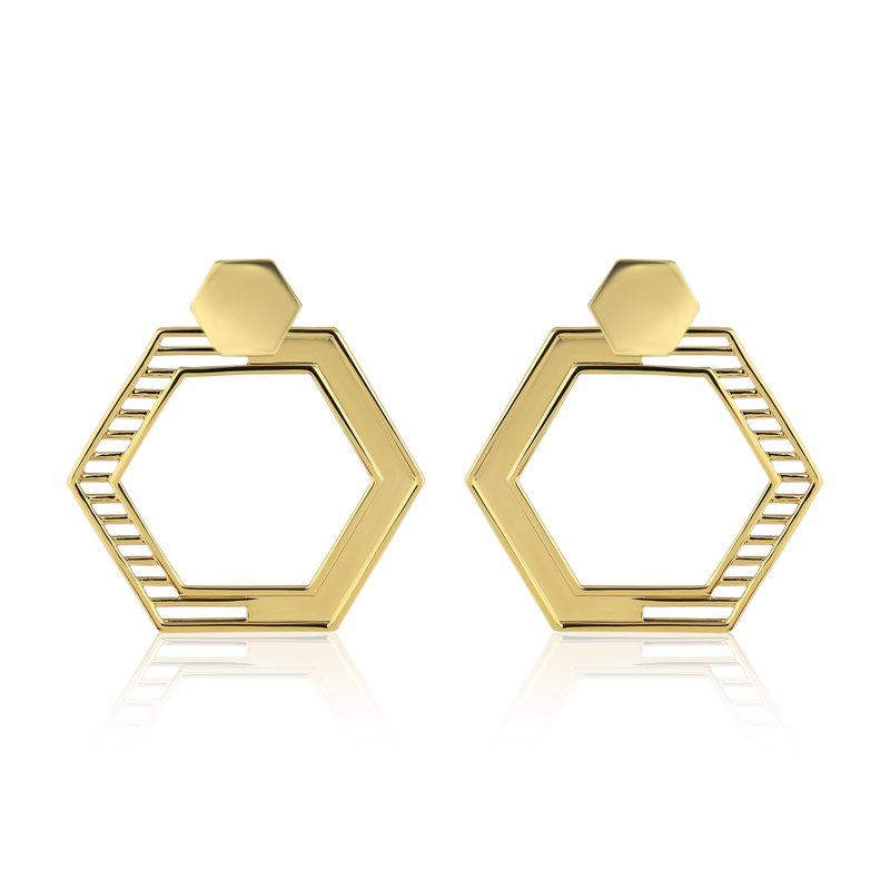Polygon Dangle Earrings